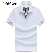 Jzhifiyer polo shirts cotton 200G eyelet solid women mens slim polo shirt short-sleeve camisa masculina plain shirts polo mujer
