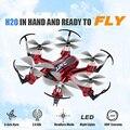 Mini rc drone jjrc h20 2.4g 4ch 6 eixos giroscópio quadcopter hexacopter zangão headless modo toys dron um retorno chave de controle remoto