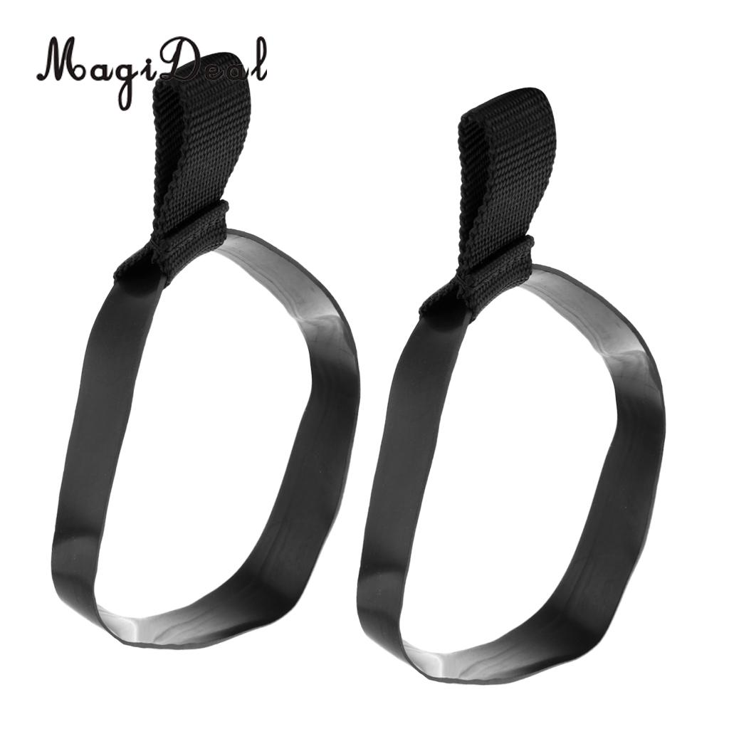 MagiDeal 2 Pieces Durable Elastic Rubber Scuba Diving Snorkeling Stage Tank Cylinder Bottle Hose Retainer Band Small/Large