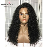 Preferred Curly Human Hair Wig Brazilian Vrigin Hair 360 Lace Frontal Wig Pre Plucked Glueless Full Lace Wigs For Black Women