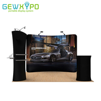 3m*3m Booth Solution Portable Exhibition Banner Stand With Your Own Design Printing,Tension Fabric Advertising Tube Display Wall