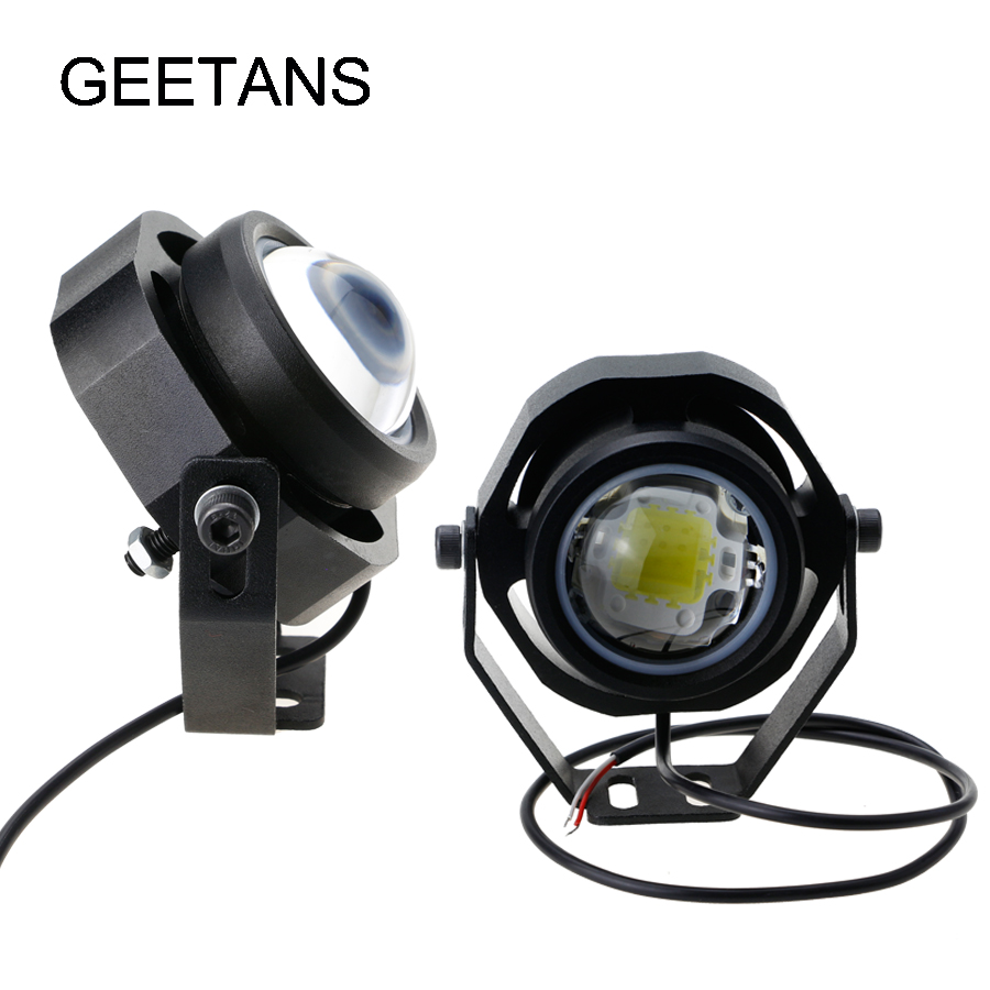 Car fog light 2PCS/lot 10W 1000LM 100% Waterproof LED Eagle Eye Lights car modified  360 degree Daytime Running lights  H 15w car led eagle eye headlight fog lights spotlights 6000k ip67 waterproof daytime running light for vehicle motorcycle