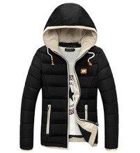 2016 Новый Толстый Теплый С Капюшоном Зимняя Куртка Мужчины Ветрозащитный Мода Slim Fit Homme Манто Hiver