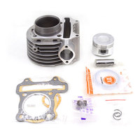 Motorcycle Cylinder Kit 52.4mm 57.4mm 58.5mm Big Bore For GY6 125cc 150cc 175cc 152QMI 157QMJ Moped Scooter TaoTao Modified