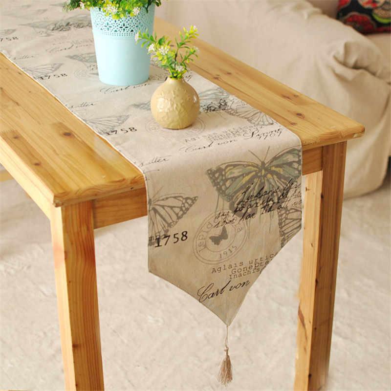 BZ395 британские зарубежные ноги кровати Средиземноморский стол флаг текстиль фабричные магазины мягкий льняной настольный бегун