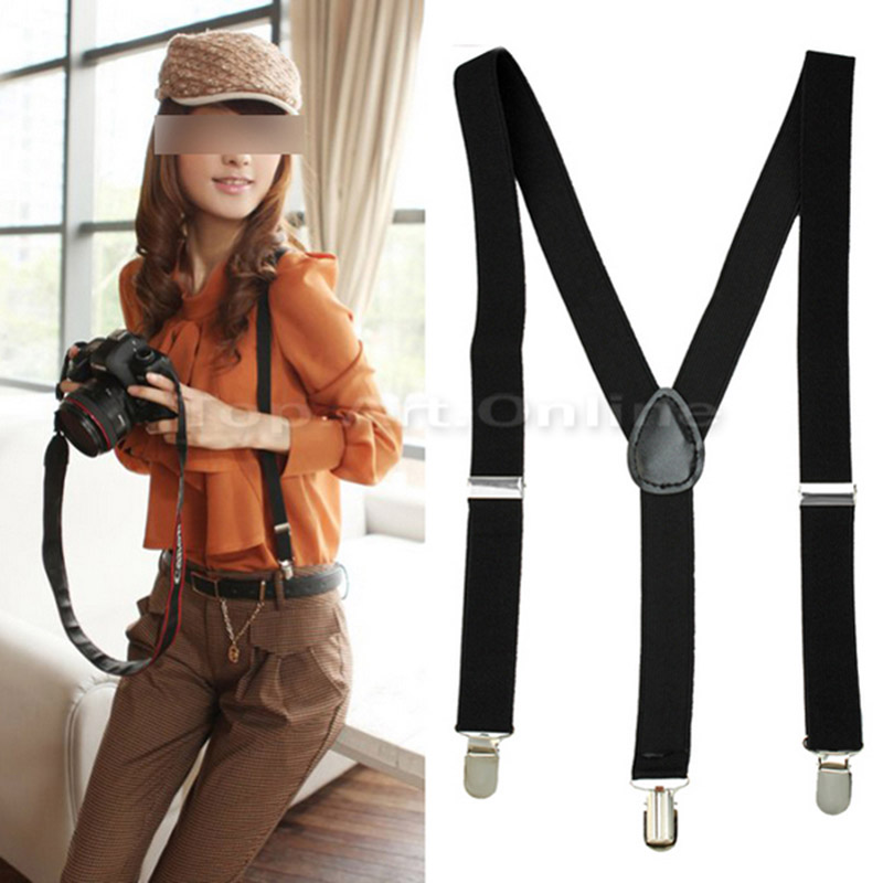 Hot Sale Trendy Men/Women Clip-on Suspenders Elastic Y-Shape Adjustable Braces