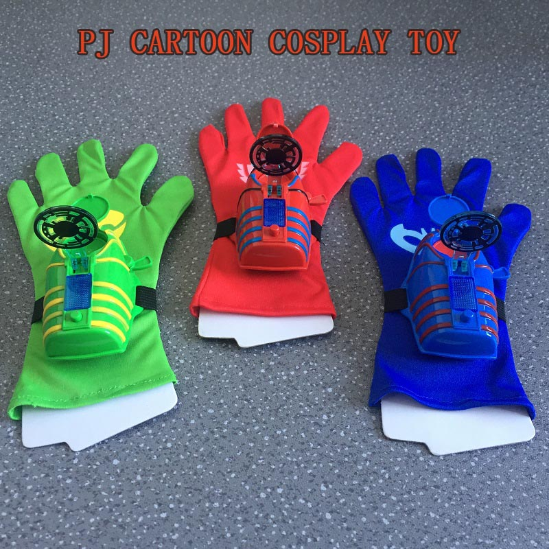 PJ Cartoon Launcher Figure Toy Anime Les Pyjamasques Children Party Mask Cosplay Connor Greg Amaya Glove Birthday Juguetes Gift pj cartoon pj masks command center car parking toy lot car characters catboy owlette gekko masked figure toys kids party gift