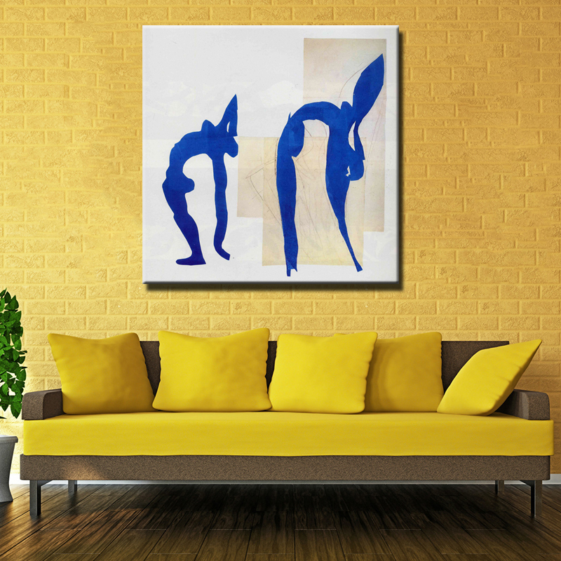 High Quality Cheap Price Art Pictures <font><b>Blue</b></font> <font><b>Nudes</b></font> By Matisse Modern Home Wall Decor Abstract Canvas Print Oil Painting Unframed