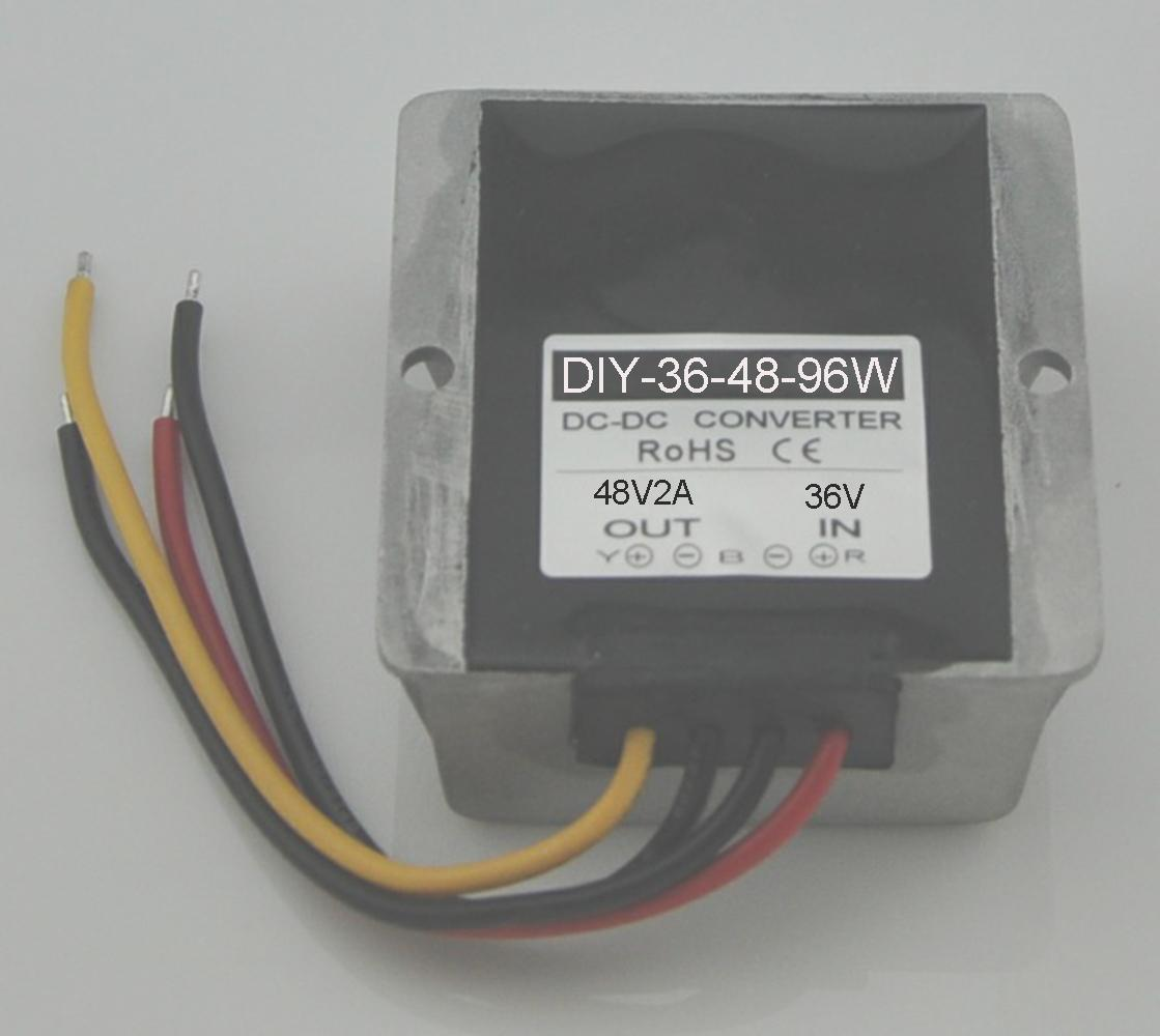 DC Converter Module 36V(25V-45V)Step up to <font><b>48V</b></font> 2A Car Power <font><b>Adaptor</b></font> Waterproof image