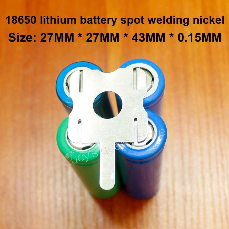 10 pçs/lote 4S 18650 bloco de bateria de lítio ponto weldable em forma de u folha de níquel t6 bateria niquelado aço