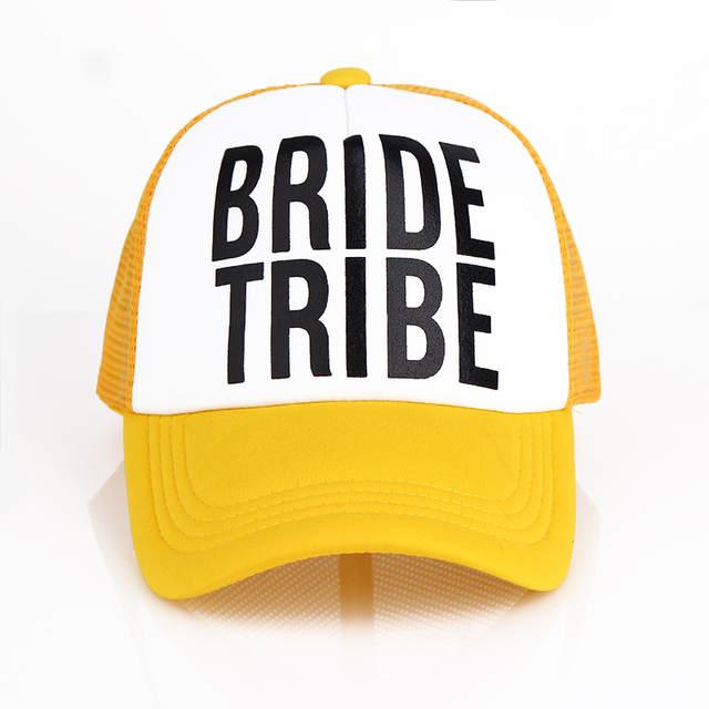 placeholder VORON Bride Bride Tribe Bachelorette Hats Women Wedding  Preparewear Trucker Caps White Neon Summer Mesh e174b828bba3