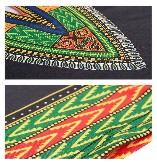 Dashiki Fashion New Small V-Neck Pocket Printed Dress for Women Africa Nation 2018 Europe and America Style Dashiki Dresses 5