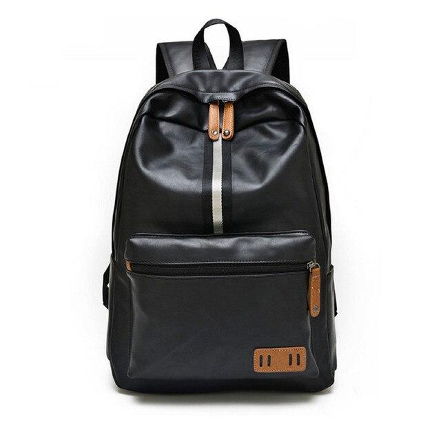 Ygdb Fashion Men Women Pu Leather Shoulder Bag Backpack School Bags Travel Day Backpacks Vintage 15