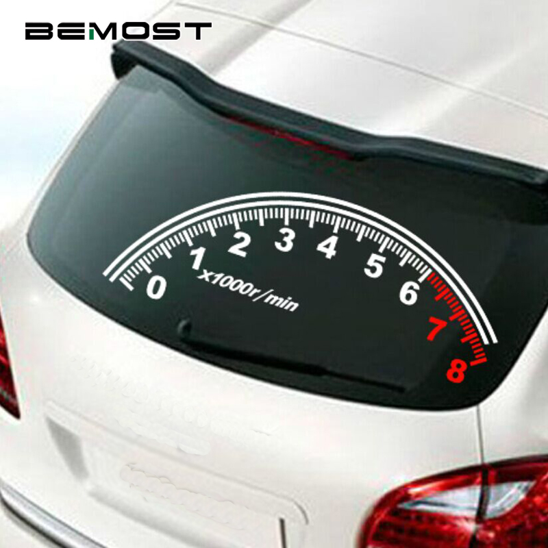 BEMOST Auto Reflective Car Rear Window Decoration Speedometer Sport Cool Car Sticker Stickers 60*30cm Accessories Car Styling