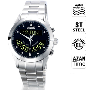 Image 1 - Muslim Azan Watch 6102 WA 10 32mm Stainless Steel Automatic Mosque Prayer Clock for All Muslim friend