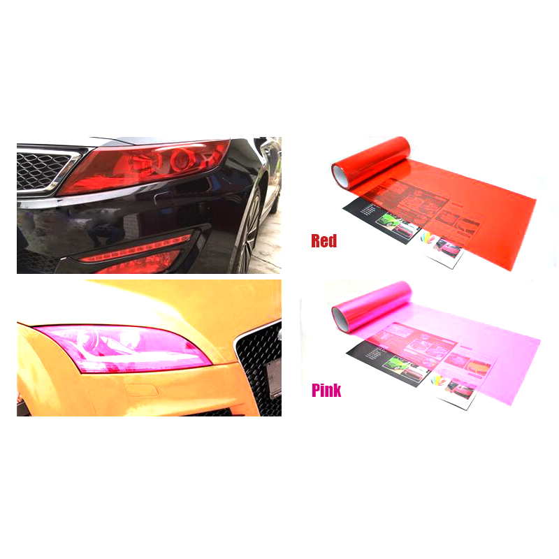Car Headlight Vinyl Stickers Tail Light Fog Light Film 30cm 200cm Multiple Color Brand New Decoration Color Change Car Styling in Car Stickers from Automobiles Motorcycles