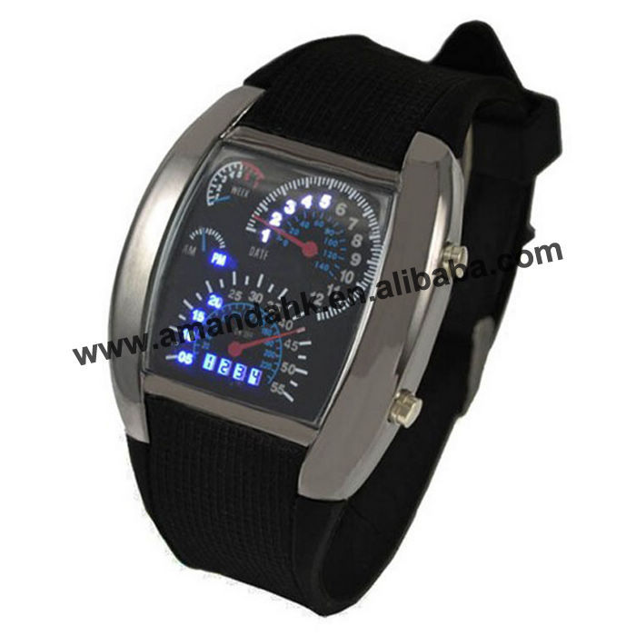 50pcs/lot Fashion Watch Men Sports Watches Led Display ...