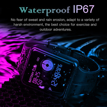 SKMEI חכם ספורט שעון מגע מסך שיחת תזכורת שעון קצב לב לחץ דם שינה ניטור עמיד למים Wristwatche W37