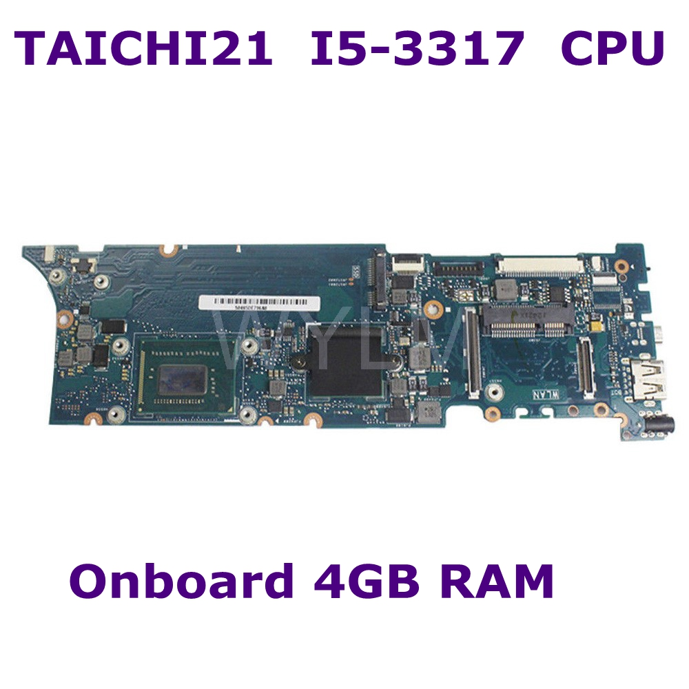 TAICHI 21 With I5-3317 CPU Onboard 4GB RAM mainboard For Asus TaiChi 21 System ZenBook motherboard 100% Tested free shipping цена
