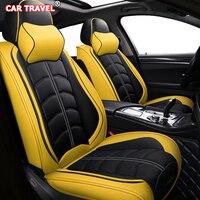 Передний Задний Роскошный кожаный чехол для сиденья jac s2 s3 mitsubishi pajero 4 seat arona mercedes w245 haval h9 h6 h4 h5 автомобильные сиденья