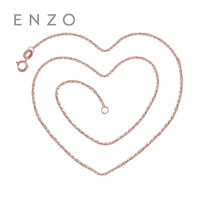 ENZO Geniune 14 k Gioielli In Oro Collana Del Tutto-Fiammifero Semplice Collane Con Giallo Rosa E Oro Bianco Rolo Catene Per Le Donne