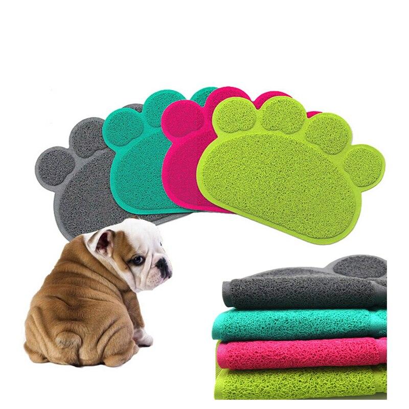 cat litter mat new pet feed clean rug and carpet keep floor clean pet catcher smart grip paw shape grass like material - Cat Litter Reviews