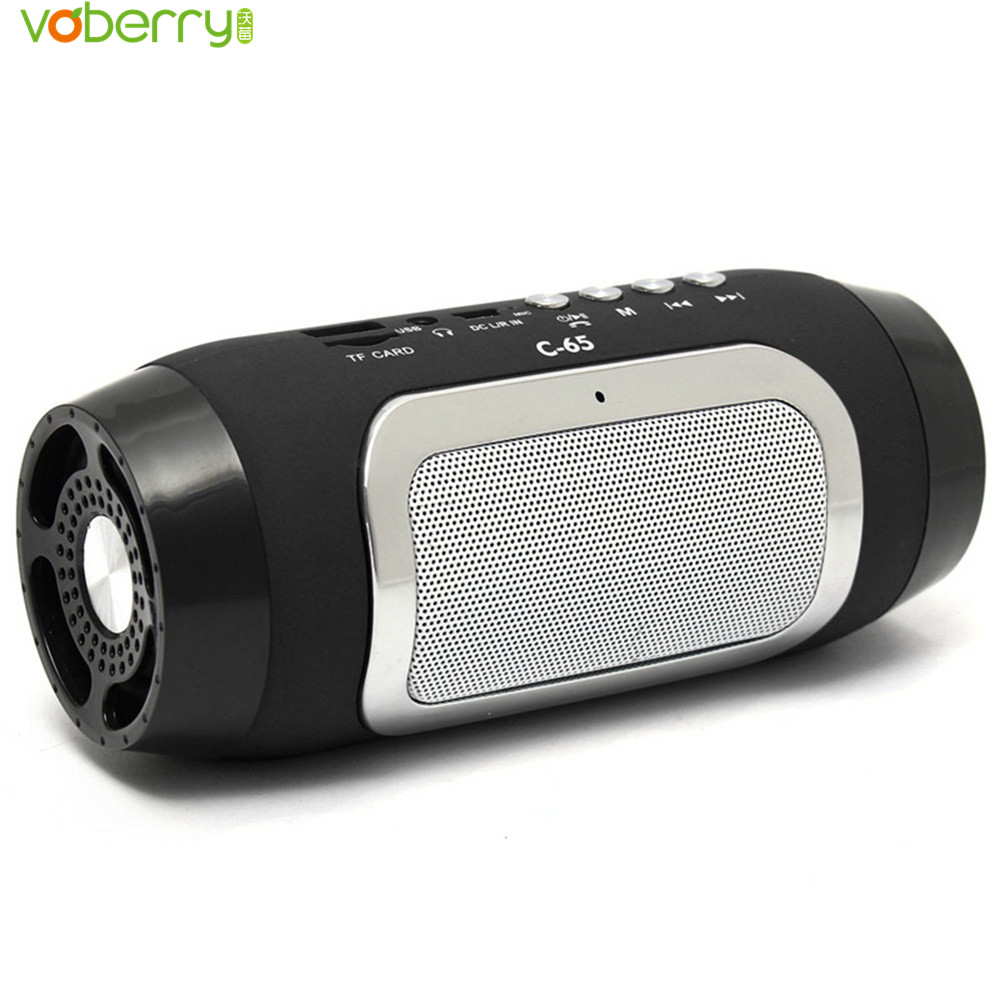 VOBERRY C-65 Super Bass Portable Wireless Bluetooth Speaker Mini Stereo Speakers MP3 FM Radio TF Card For Smartphone Tablet PC