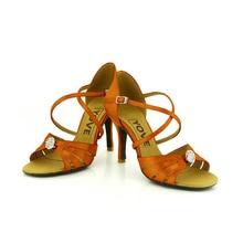 YOVE LD 3132 Customizable Satin Women s Latin Salsa Dance Shoes Rhinestone Open Toe 3 25