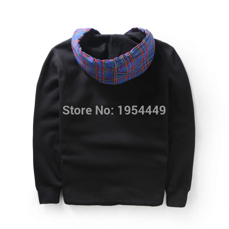 197630ba01a83 2015 NEW 15 16 COMME des GARCONS SHIRT SUPREME camouflage Scotland lattice  men hoodie hiphop Fashion cotton sweatshirt 2 color-in Curtains from Home  ...