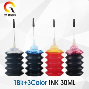 QSYRAINBOW bir set 30ml evrensel dolum boya mürekkep kiti için uyumlu kardeş CANON için Epson için HP All mürekkep püskürtmeli yazıcı