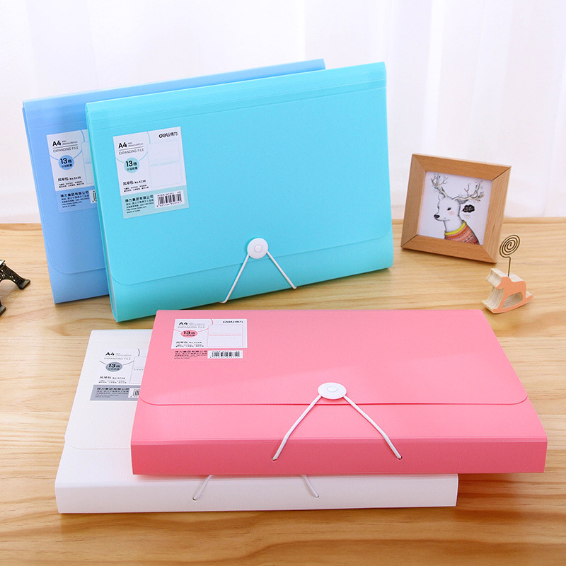 deli Newest A4 Paper File Folder Bag Premium Waterproof Business Book Office stationery Document folder Rectangle Office 1 pcs a3 a4 a5 waterproof plastic zipper paper file folder book pencil pen case bag file document bag for office student supply