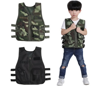 Kids Vest Outdoor Life Game CS Vest Army Fans Outdoor Protective Equipment Soldier Battle Fatigues Camouflage Childrens Clothes