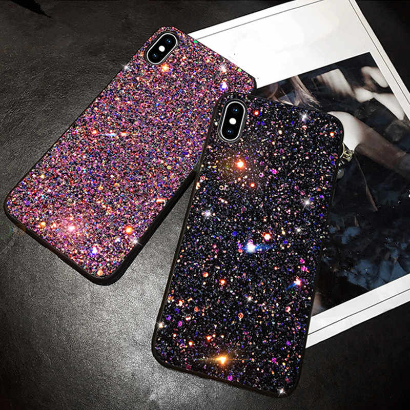Bling Glitter Pailletten Telefoon Case Voor Samsung Galaxy S9 Plus S10e Case cover Voor Samsung S10 Plus Galaxy S10 S9 a20 A30 A50Phone