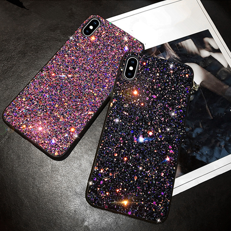 Bling Glitter Sequins Phone Case For Samsung Galaxy S9 Plus S10e Case cover For Samsung S10 Plus Galaxy S10 S9 A20 A30 A50Phone image