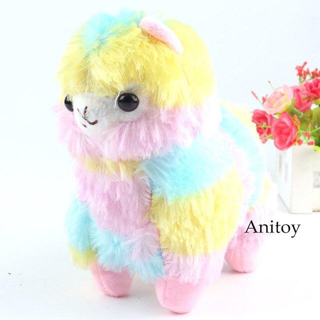 Alpacasso Rainbow Alpaca Plush Japan Soft Vicugna Pacos Animals Dolls Stuffed Toys Birthday Gifts 20cm
