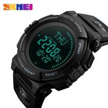 SKMEI למעלה יוקרה ספורט שעון גברים מצפן 5Bar עמיד למים ספורט שעונים תכליתי דיגיטלי שעון Relogio Masculino 1290