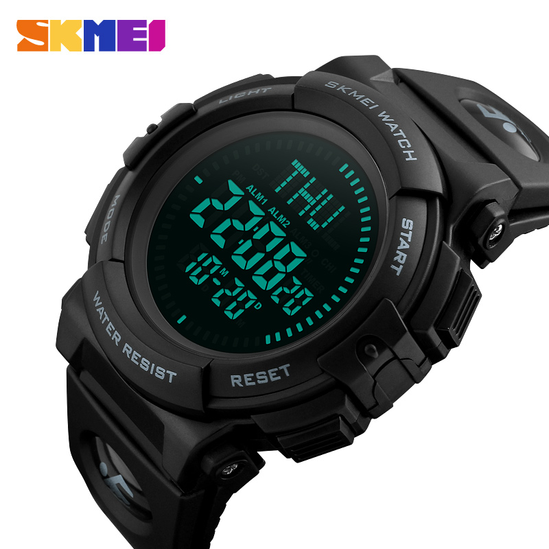 SKMEI Top Luxury Sport Watch Men Compass 5Bar Waterproof Sport Watches Multifunction Digital Watch Relogio Masculino 1290