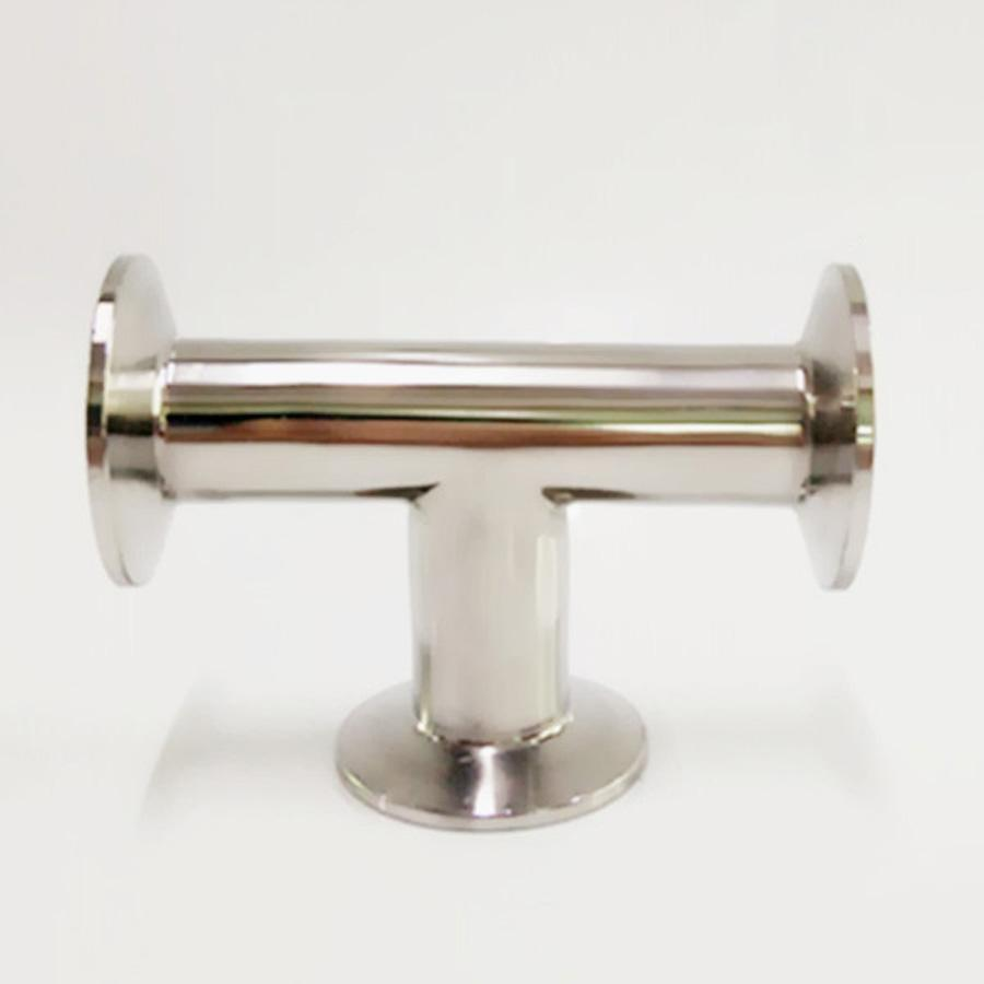 63mm Pipe OD x 2.5 Tri Clamp Tee 3 Way SUS 304 Stainless Steel Sanitary Fitting Homebrew Beer Wine Diary Product free shipping 1 5 38mm sanitary tri clamp 3 way tee 304 stainless steel sanitary ferrule tee connector pipe fitting 1 5 tri