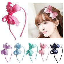 Children Accessories Hairband Headband Gum for Hair Baby Girls Lovely Bow Headwear