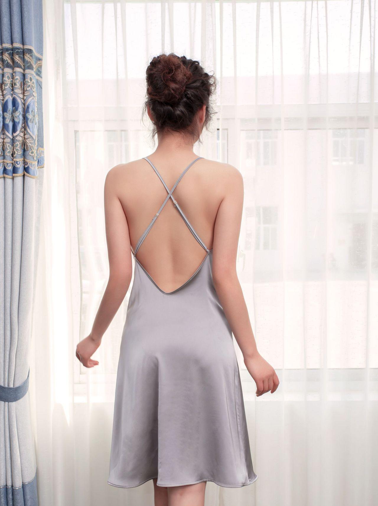 о-вырез, шелковое домашняя одежда 21