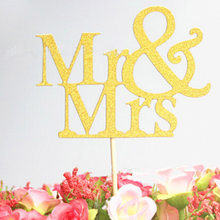 Dessert Cards Insert Card Mr Mrs Personalized Cake Topper Party Cake Decoration Two Colors Optional(China)