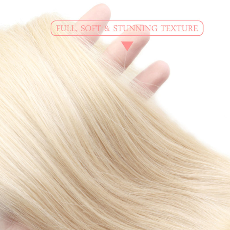 Ali Queen 613 Blonde Bundle Unprocessed Virgin Straight 10A Brazilian One Donor Human Young Girl Hair Weave Extension For Salon-in Virgin Hair Weave from Hair Extensions & Wigs    3