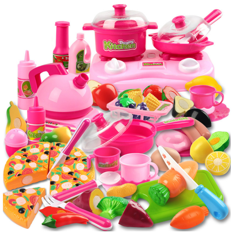 New 3 Types Classic Cooking Toys For Children 30PCS Pretend Play Cutting Food Set Kids Kitchen Educational Toy Play House Toys
