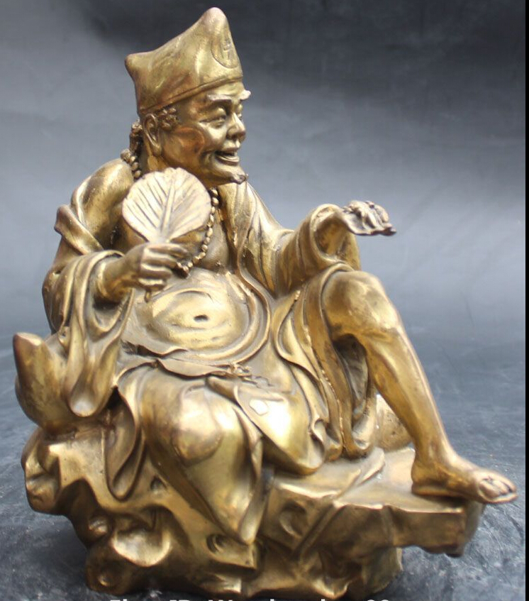 9 Chinese Bronze Mythology Rohan Arhat Monk Fo Jigong Buddha Sculpture Statue9 Chinese Bronze Mythology Rohan Arhat Monk Fo Jigong Buddha Sculpture Statue