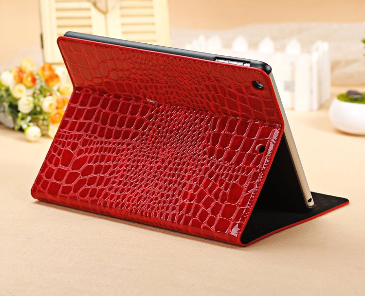 Crocodile Stand PU Leather Protective Sleeve Shell Cover Case Magnetic Smart Sleep Case For Apple ipad Air 5 9.7 inch Tablet flip left and right stand pu leather case cover for blu vivo air