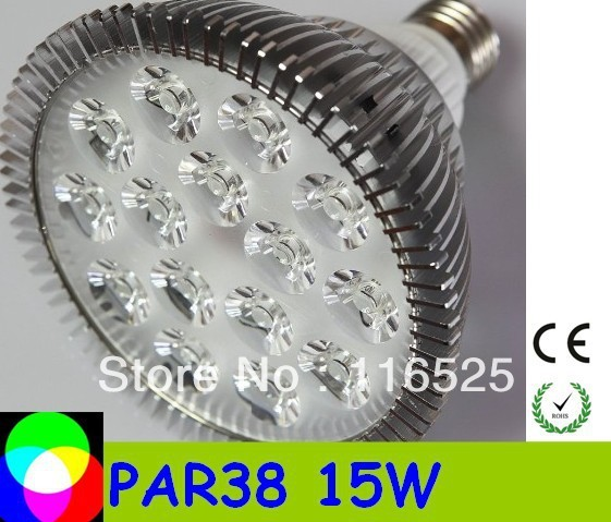 PAR38 15W E27 base Led Spotlight Bulbs Led Lamp free delivery high quality factory price 85-265V 30pcs /lot