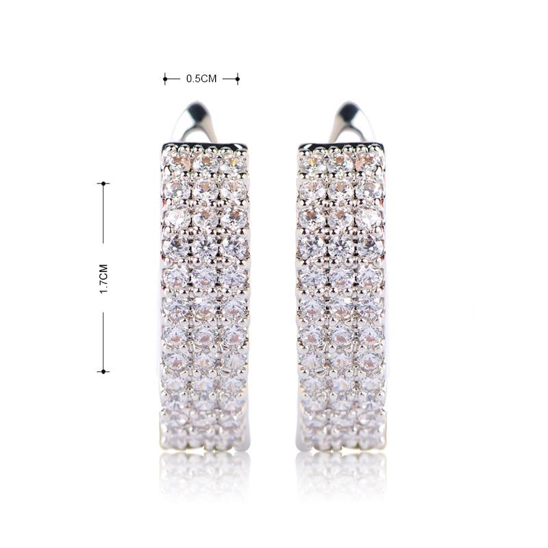 MECHOSEN Hot Jual Cubic Zirconia Stud Earrings Wanita Emas-warna - Perhiasan fashion - Foto 2