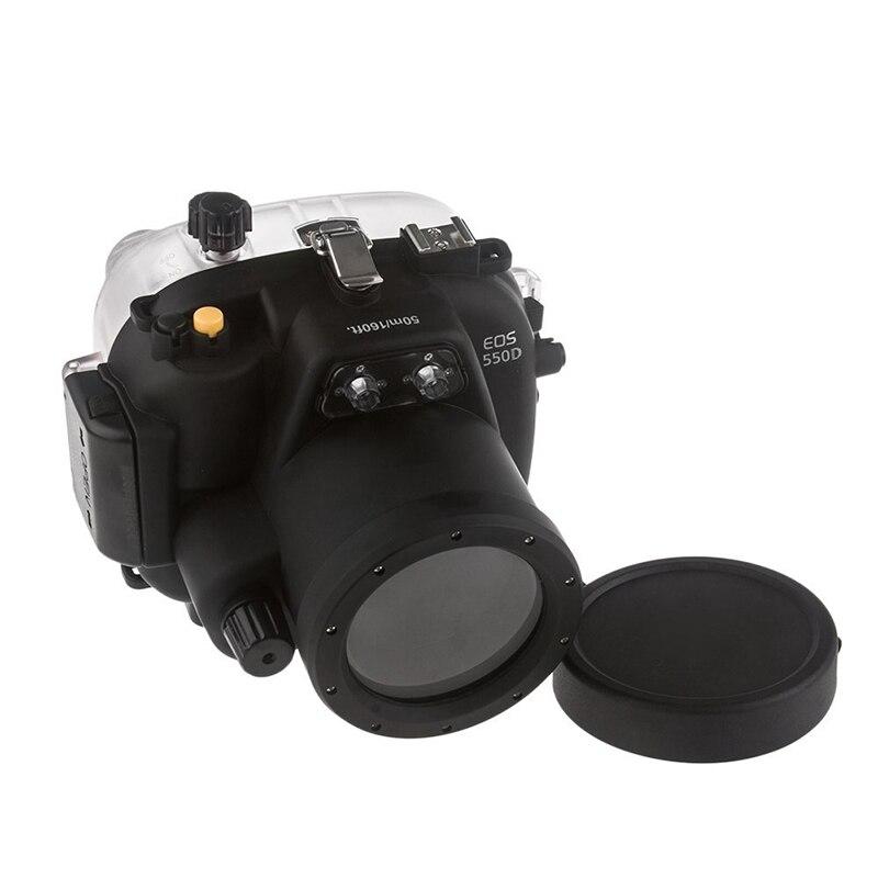 Free ship Meikon 40M Waterproof Underwater Camera Housing Case Bag for Canon 550D T2i meikon 40m wp dc44 waterproof underwater housing case 40m 130ft for canon g1x camera 18 as wp dc44