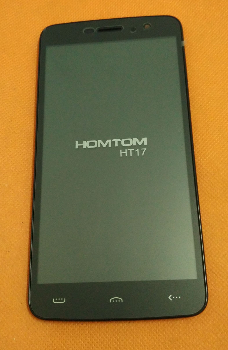 Used Original LCD Display + Touch Screen Digitizer +Frame for HOMTOM HT17 MTK6737 Quad Core 5.5