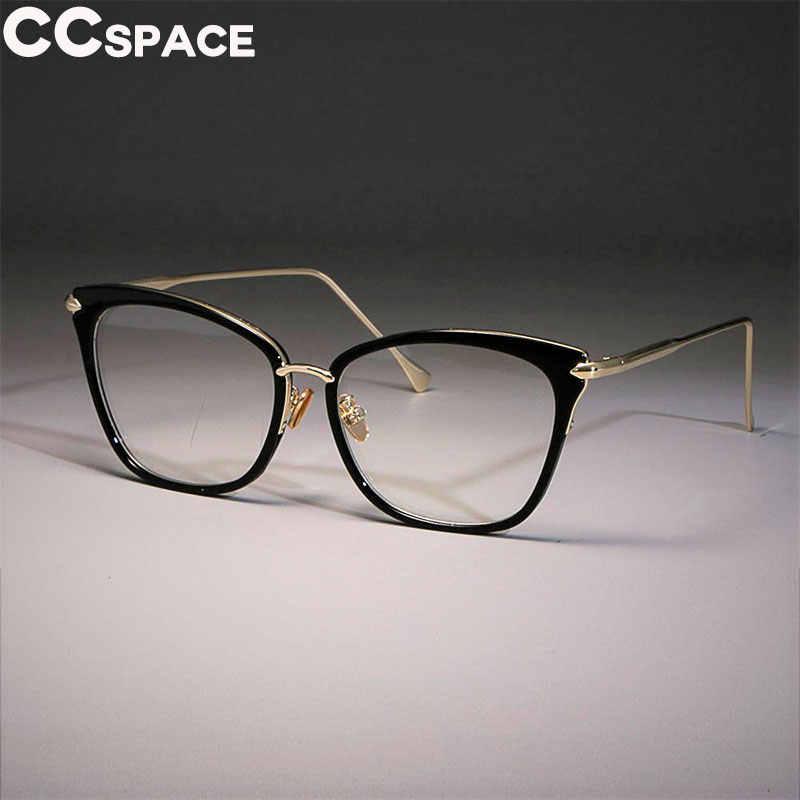 81409832d6 Lady Sexy Cat Eye Glasses Frames Women Retro Big Glasses Alloy CCSPACE Brand  Designer Optical Fashion
